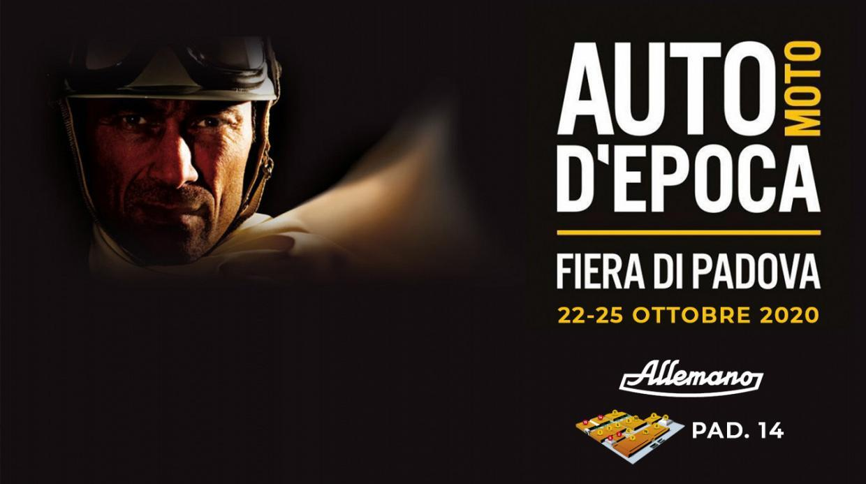 ALLEMANO: FROM 22nd TO 25th OCTOBER @ AUTO MOTO D'EPOCA PADUA